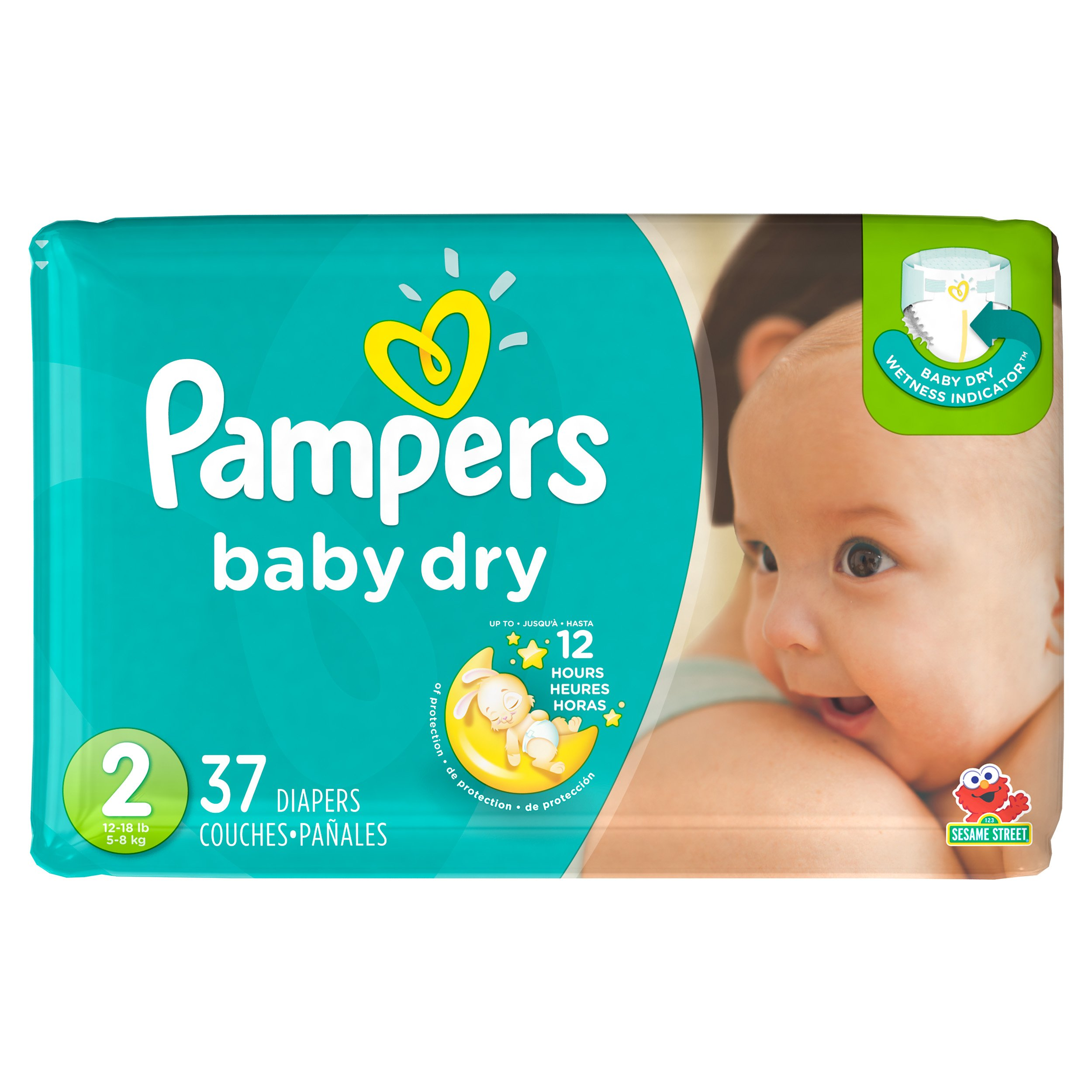 Amazon Com Pampers Baby Dry Diapers Sesame Street Size 1