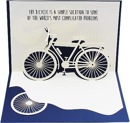 Cycologist - Tarjeta desplegable para bicicleta | Gran adición a regalos de bicicleta para hombres o mujeres que aman la bicicleta | con una bonita ...
