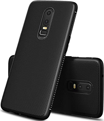 various colors c269e 1669f Geemai OnePlus 6 Case, Black Soft Cover for OnePlus 6 Covers Shock  Protection from Drops Phone Case Cover for OnePlus 6 Smartphone