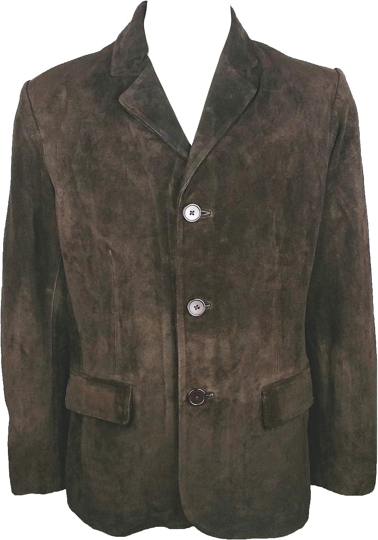Unicorn Mens Classic Suit Blazer Jacket Brown #3V Real Leather Jacket
