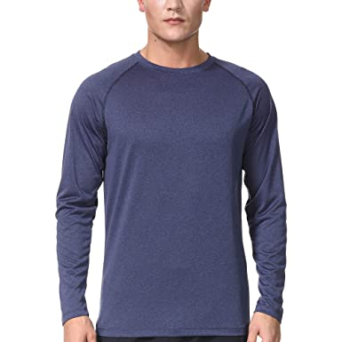 e5bff6b000bc COSSNISS Men's Dry Fit Athletic Shirts Long Sleeve Running Workout  Performance T-Shirt for Men at Amazon Men's Clothing store:
