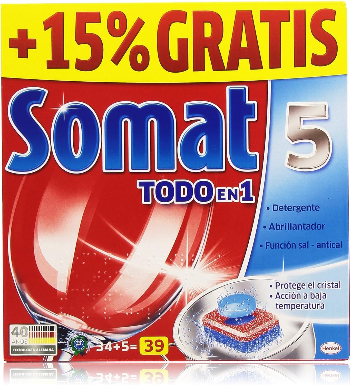 Pack de 2] SOMAT Lavavajillas Pastillas Todo en 1 Caja 35 lavados ...