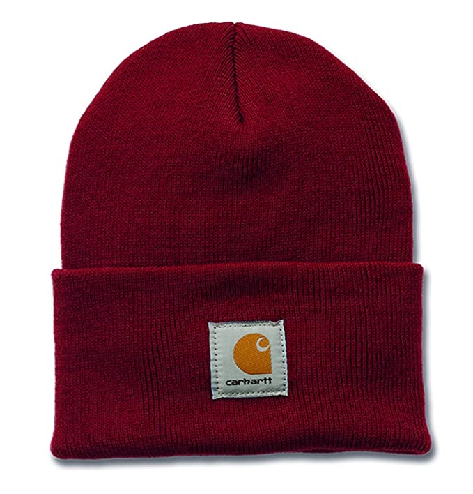 Carhartt A18 Watch Hat - Beanie - Mütze (Dark Crimson)  Amazon.it ... 9087b1fef7c4