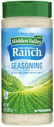 Amazon Com Hidden Valley Original Ranch Salad Dressing Seasoning Mix Gluten Free Keto Friendly 1 Canister Packaging May Vary Grocery Gourmet Food