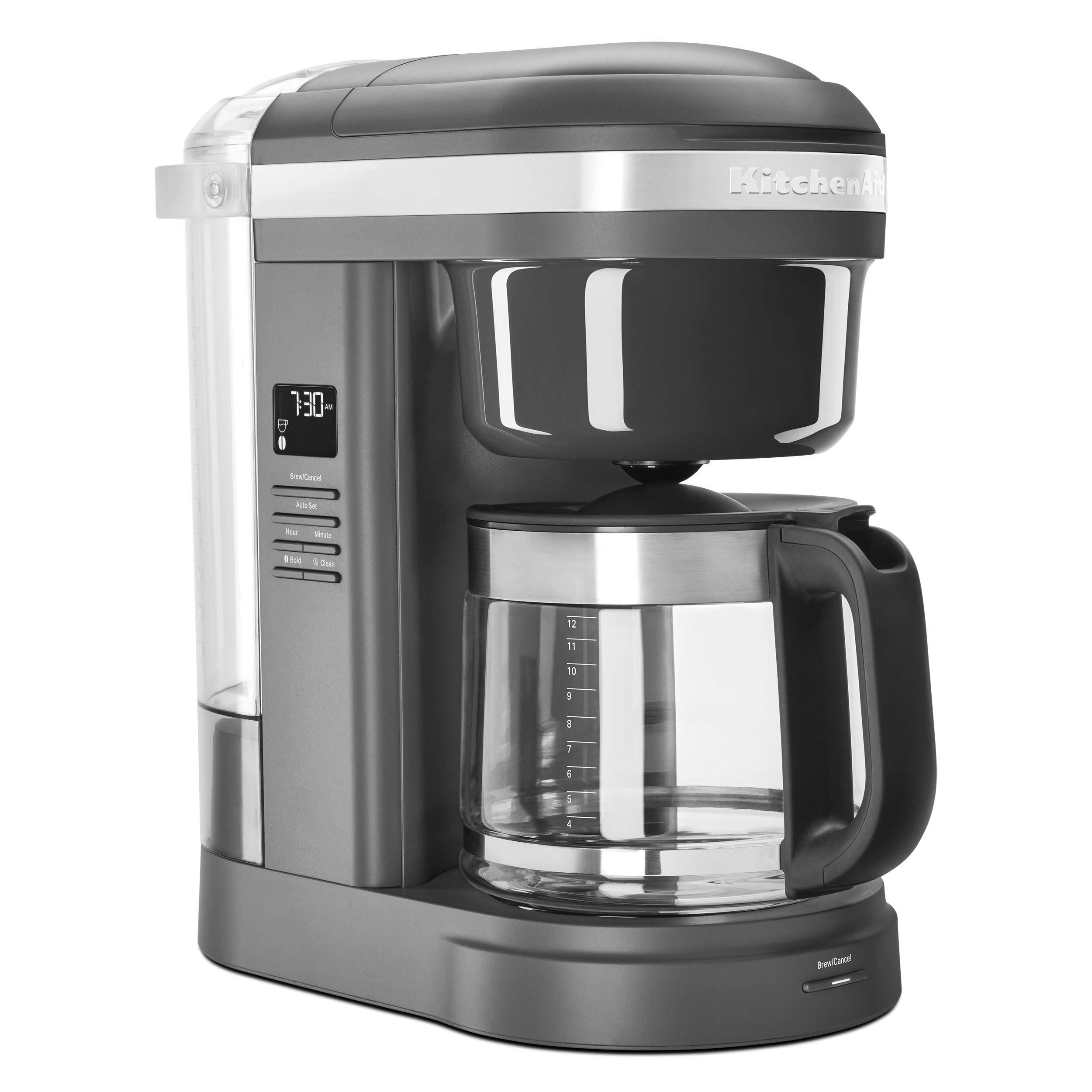 KitchenAid KCM1208DG Spiral Showerhead 12 Cup Drip Coffee Maker, Matte Charcoal Grey by KitchenAid