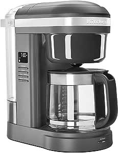 KitchenAid KCM1208DG Spiral Showerhead 12 Cup Drip Coffee Maker, Matte Charcoal Grey