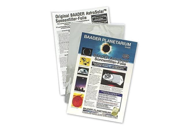 Baader Planetarium AstroSolar - Filtro solar para observación (20 x 29 cm)
