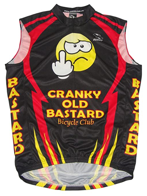 dbbe6ea2e Suarez Cranky Old Bastard Cycling Team Mens Bicycle Jersey Red Black Yellow  Mens 5XL Sleeveless