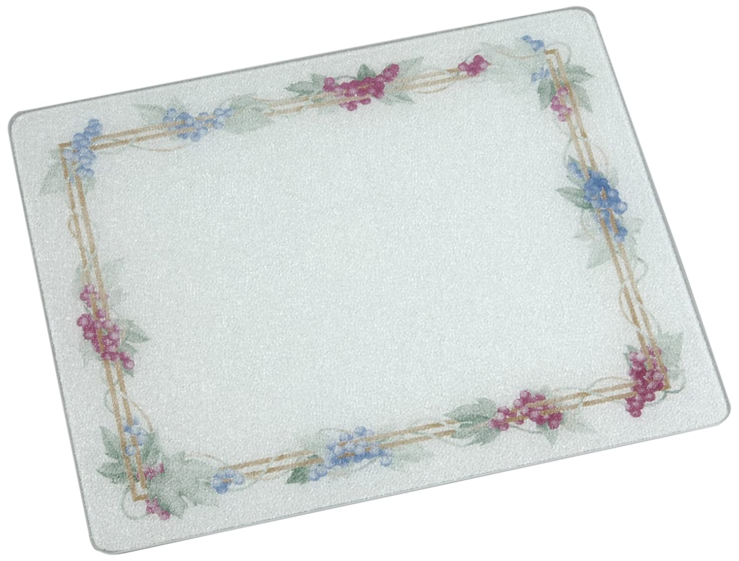 Vance 15 X 12 inch White Grapevine Surface Saver Tempered Glass Cutting Board, 81512GVW Vance Surface Saver