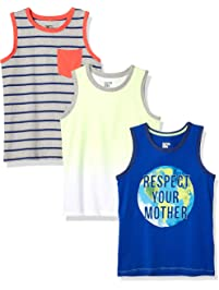 7afd316a Amazon Brand - Spotted Zebra Boys' Toddler & Kid 3-Pack Sleeveless Tank Tops