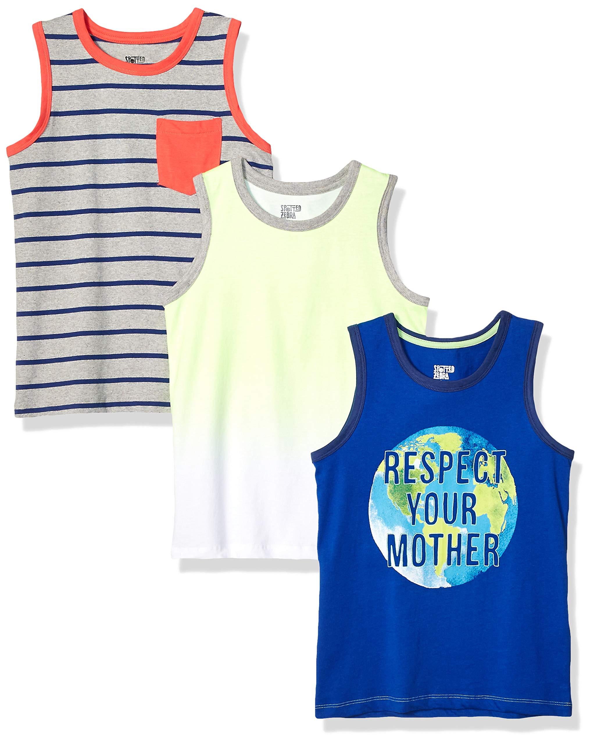 Amazon Brand - Spotted Zebra Boys' Toddler & Kids 3-Pack Sleeveless Tank Tops