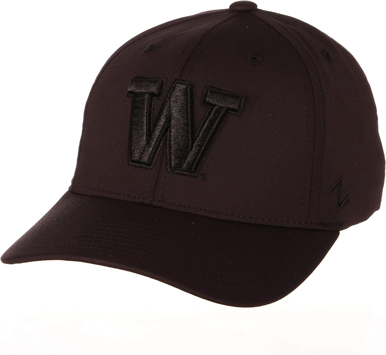 Zephyr NCAA Mens Obsidian Hypercool Black Tonal Hat