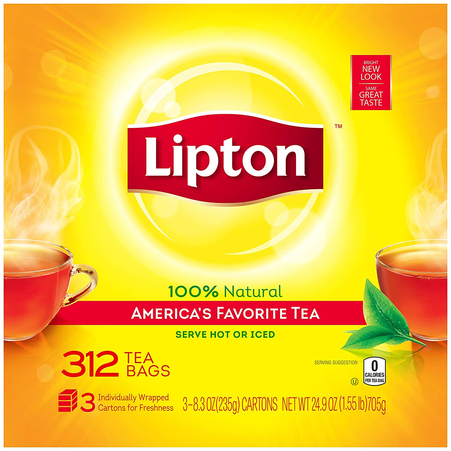 Lipton Black Tea Bags, America's Favorite Tea, 312 ct America's Favorite Tea 10041000007634