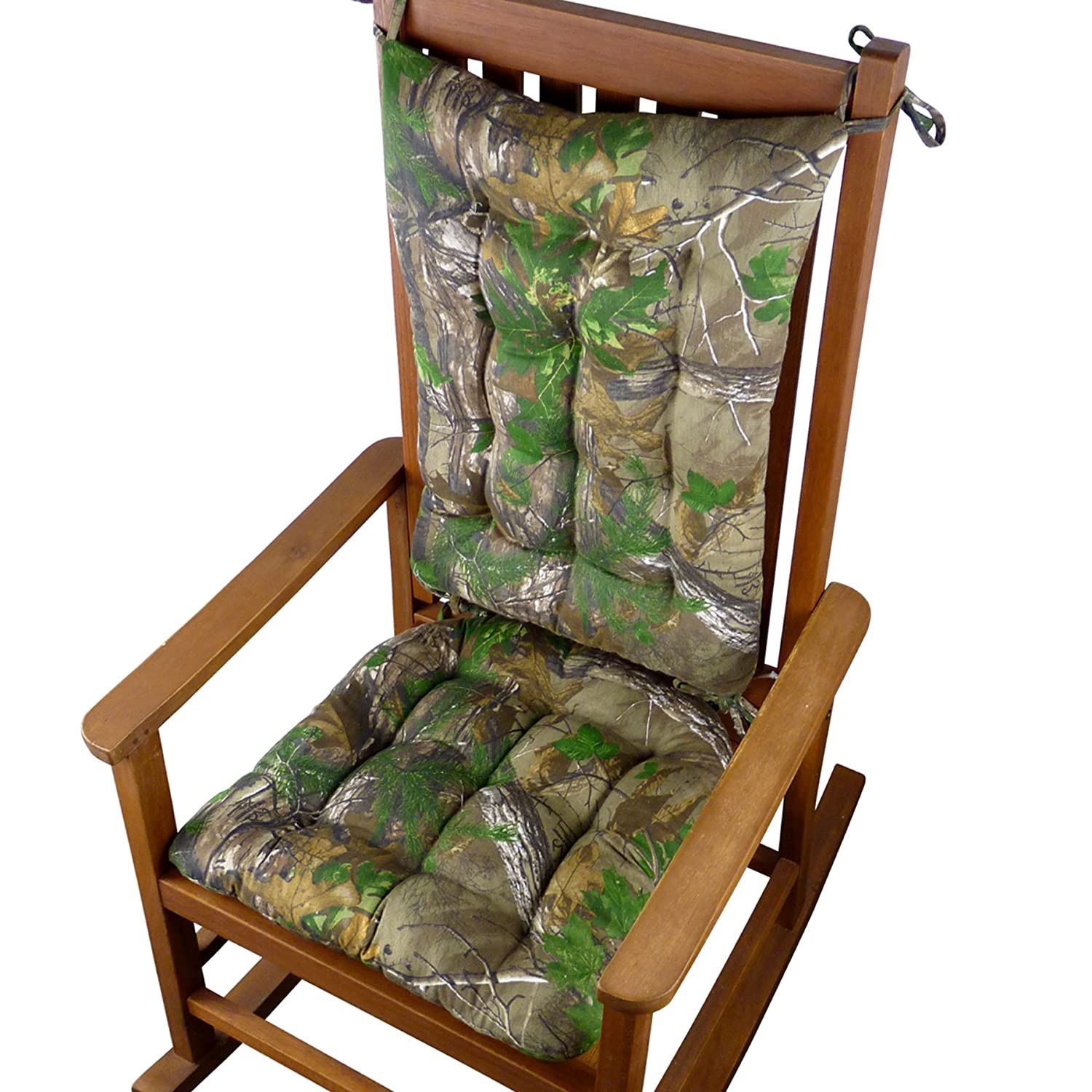 Enjoyable Realtree Xtra Green R Camo Rocking Chair Cushions Extra Large Reversible Latex Foam Fill Machine Washable Extra Large Squirreltailoven Fun Painted Chair Ideas Images Squirreltailovenorg