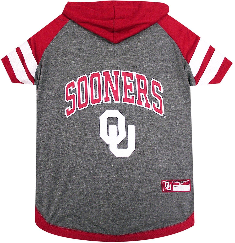 Oklahoma Sooners NCAA Hoodie Dog Pet Tee T-Shirt (Small)