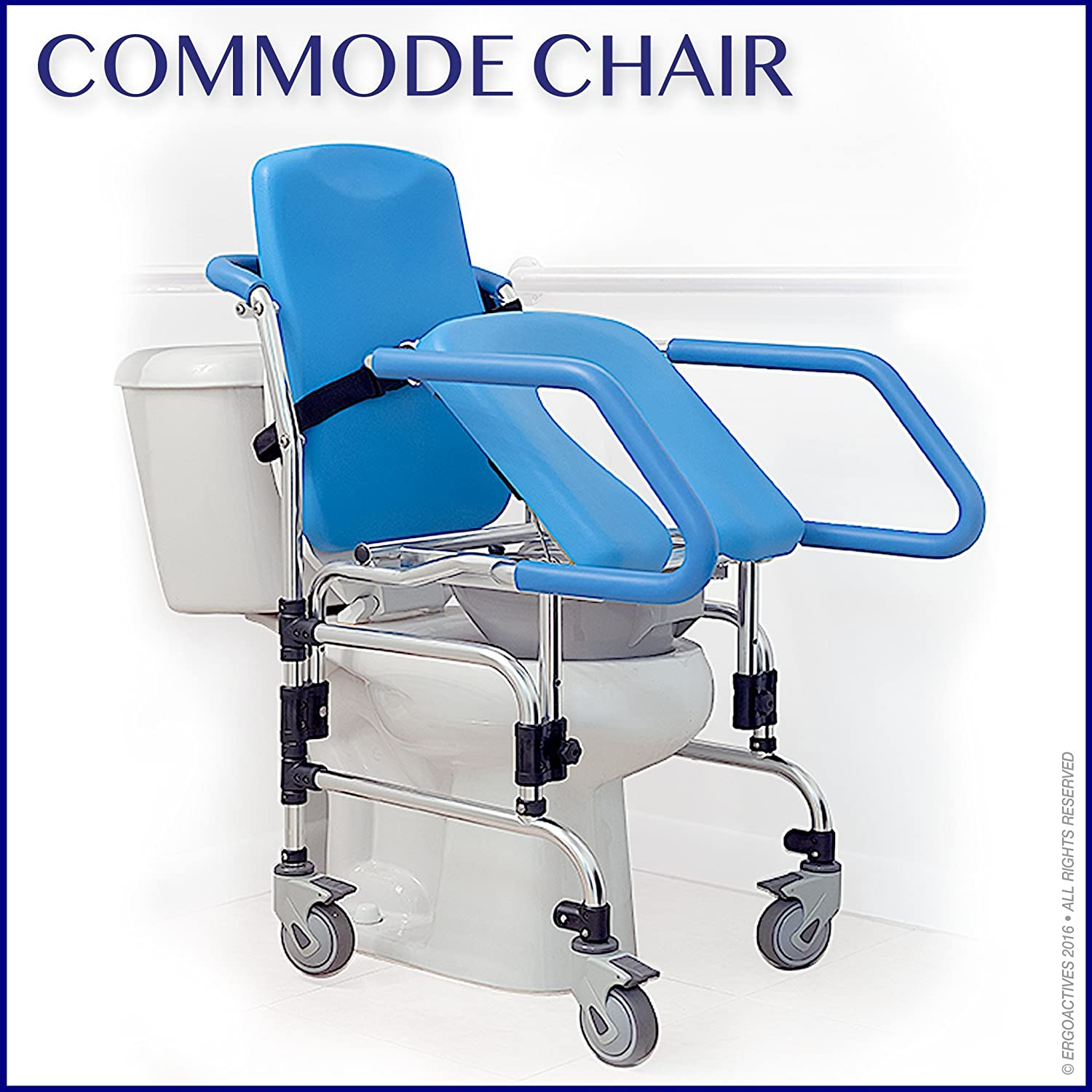 Amazon.com: Mobile Commode Chair with Assistive Seat- Helps User To ...