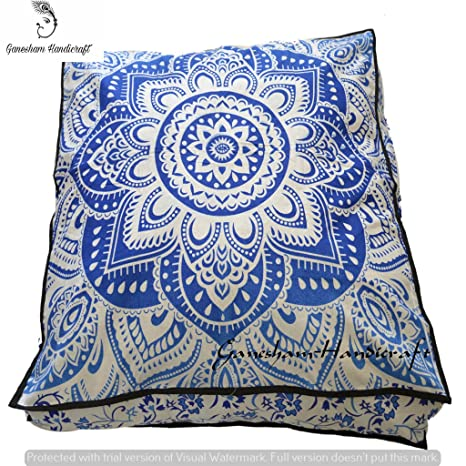 Amazon.com: GANESHAM Indian Tapestry Decorative Pillow Cover ...