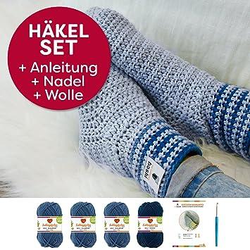 myboshi Häkelset Socken-Anleitung + Häkelnadel + Label + 4x Wolle ...