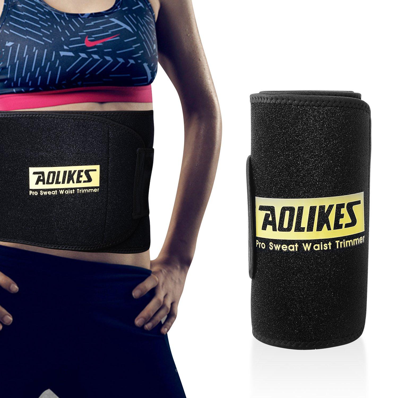 Workout for Women/&Men Cevapro Waist Trimmer Belt Sauna Effect Waist Tummy Fat Burning Sweat Enhancer Ab Belt Slimming Body Shaper Waist Trainer Belt for Faster Weight Loss