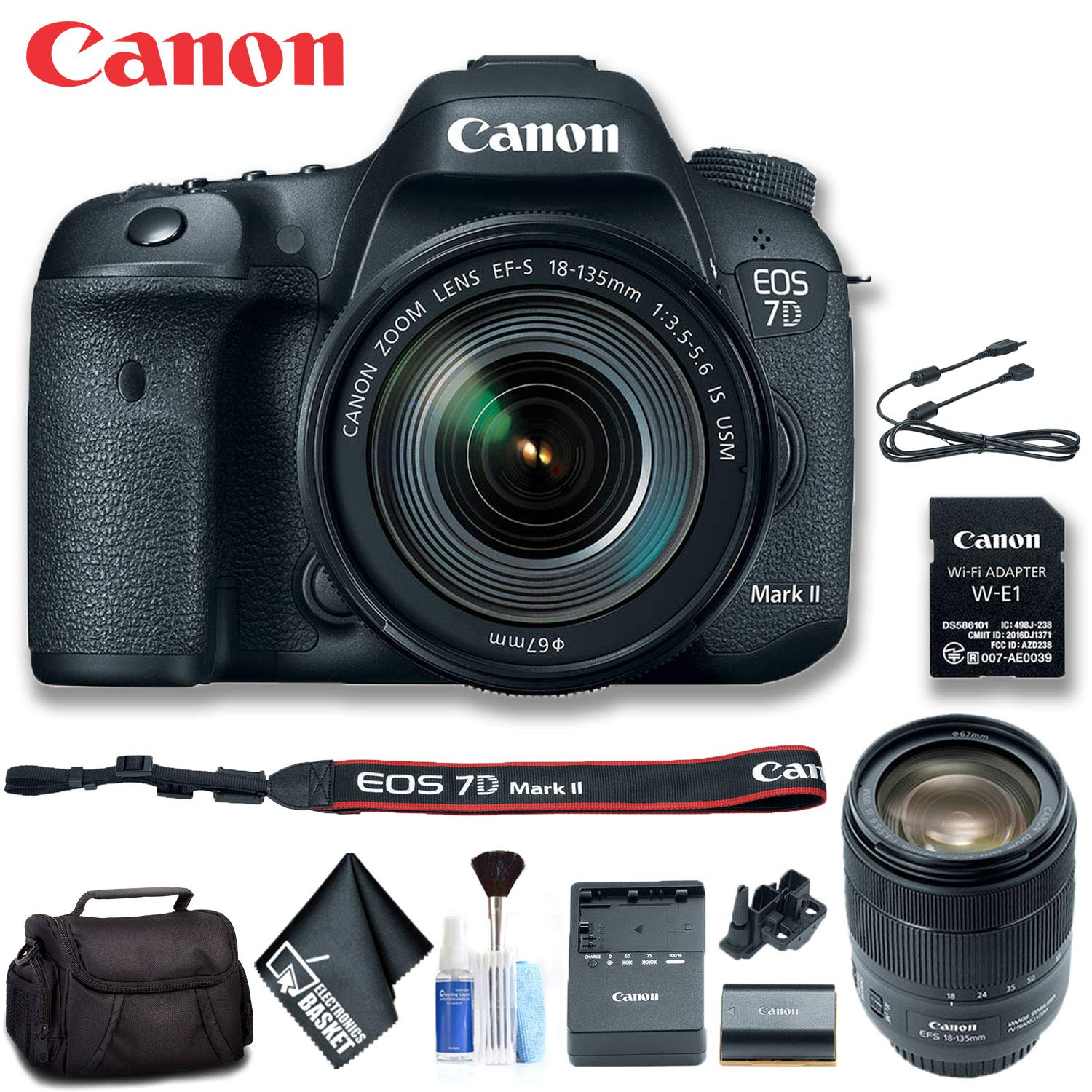 Amazon com : Canon 9128B135 EOS 7D Mark II DSLR Camera with