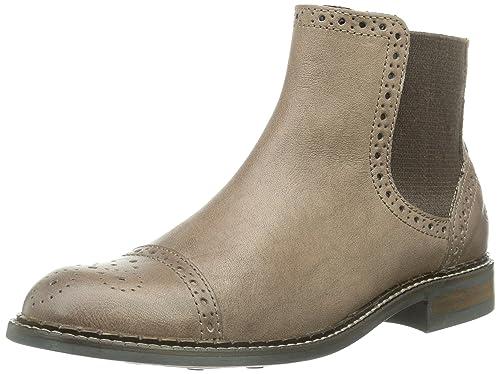 Marc Opolo Flat Heel Chelsea, Botas Mujer, marrón-Braun (Almond ...