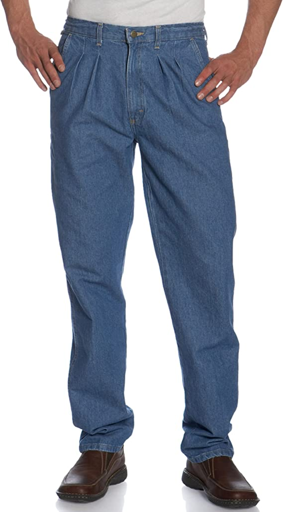 80s Mens Jeans, Pants, Parachute, Tracksuits Wrangler Mens Rugged Wear Angler Relaxed-fit Jean $51.94 AT vintagedancer.com