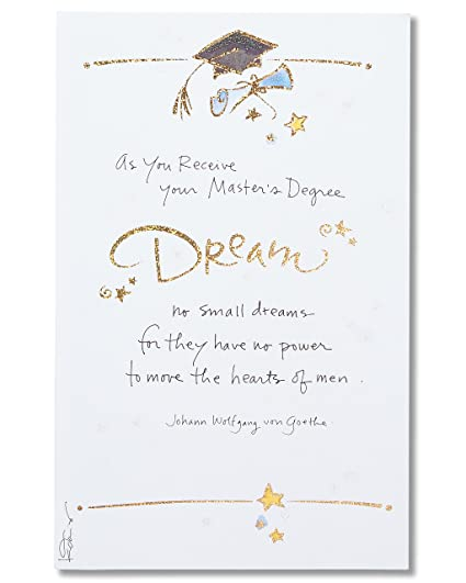 Amazon american greetings masters degree graduation card with american greetings masters degree graduation card with glitter m4hsunfo