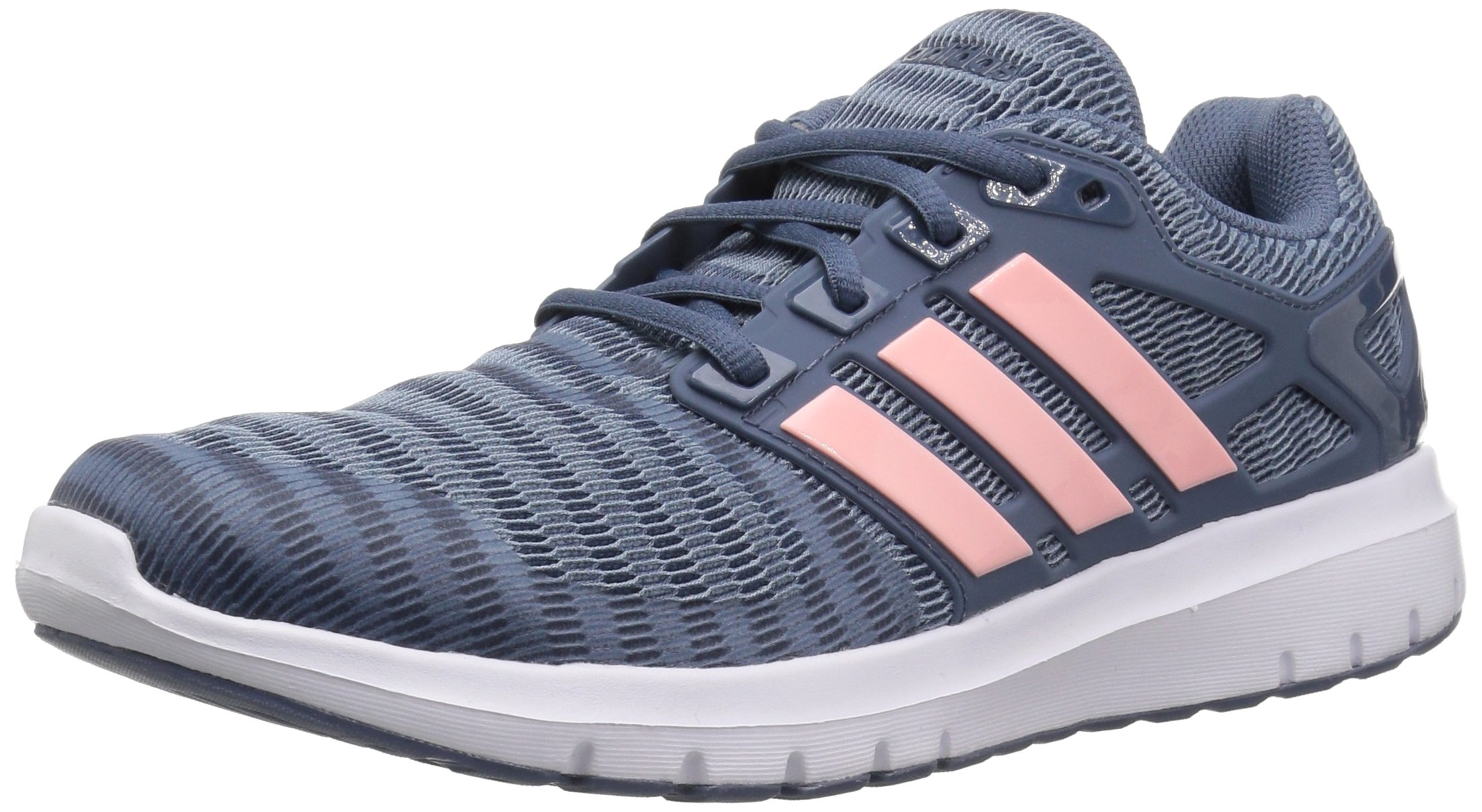 adidas Women's Energy Cloud V Running Shoe, Raw Grey/Clear Orange/Tech Ink, 7.5 M US