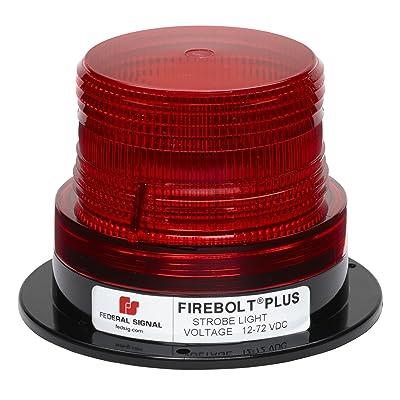 "Federal Signal 220200-04 Firebolt Plus Red 3.61"" Strobe Beacon (Perm Mt): Automotive"