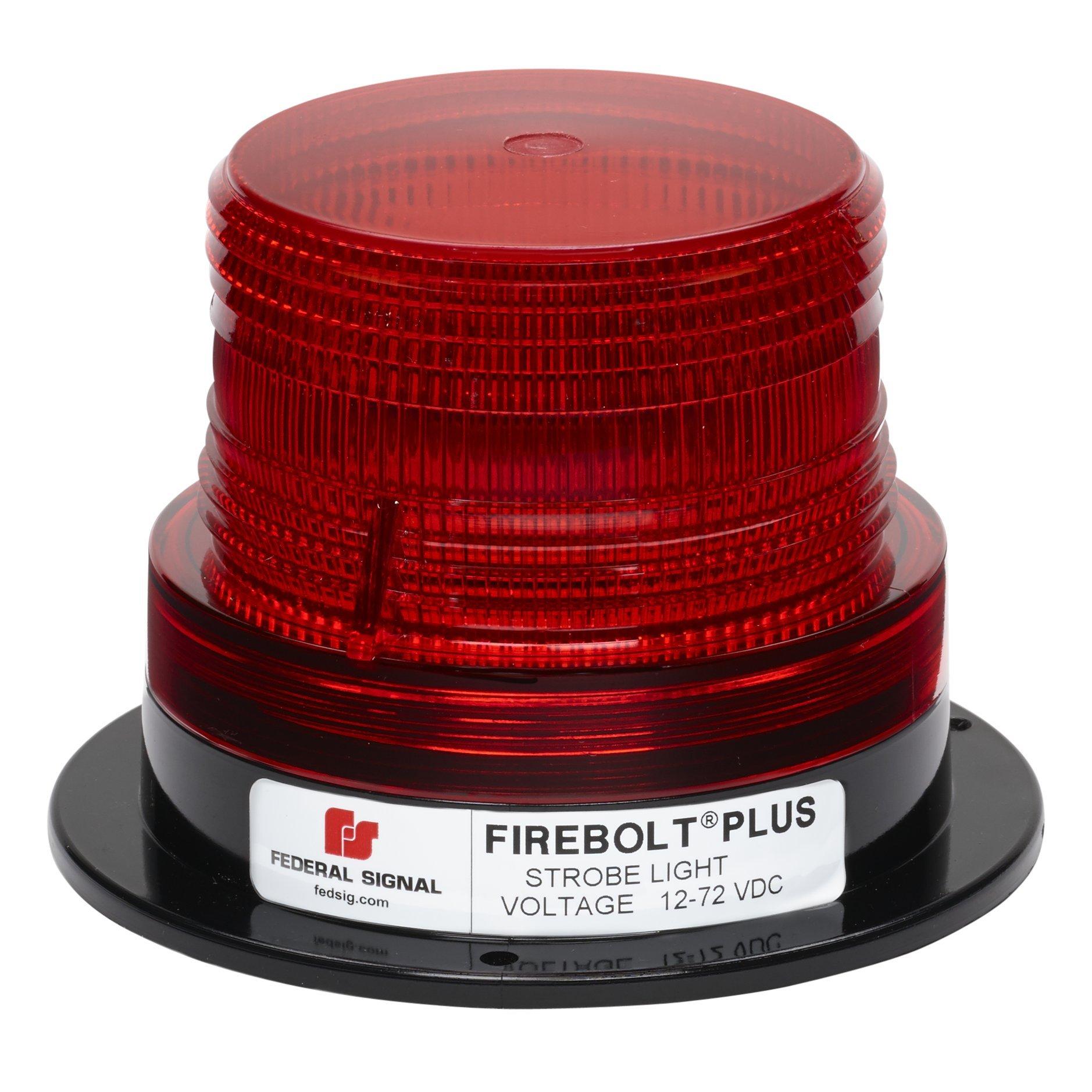 Federal Signal 220200-04 Firebolt Plus Red 3.61'' Strobe Beacon (Perm Mt)