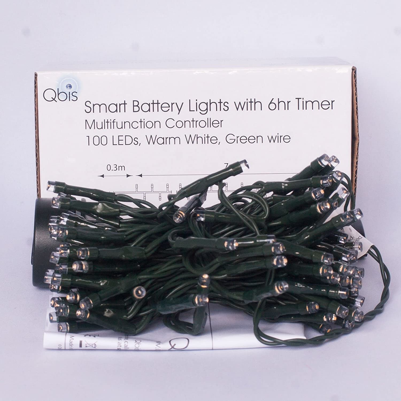 LED Christmas Lights warm white green wire 100 LEDs.: Amazon.co.uk ...