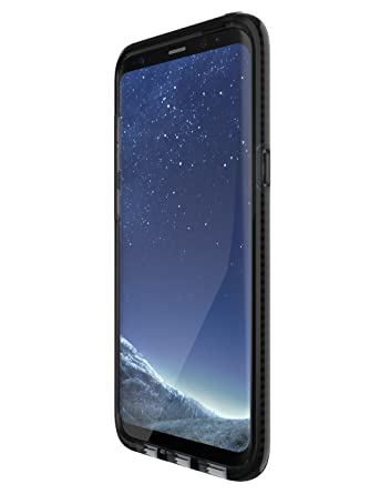 tech21 - Phone Case Compatible with Samsung Galaxy S8+ - Evo Check - Smokey/Black