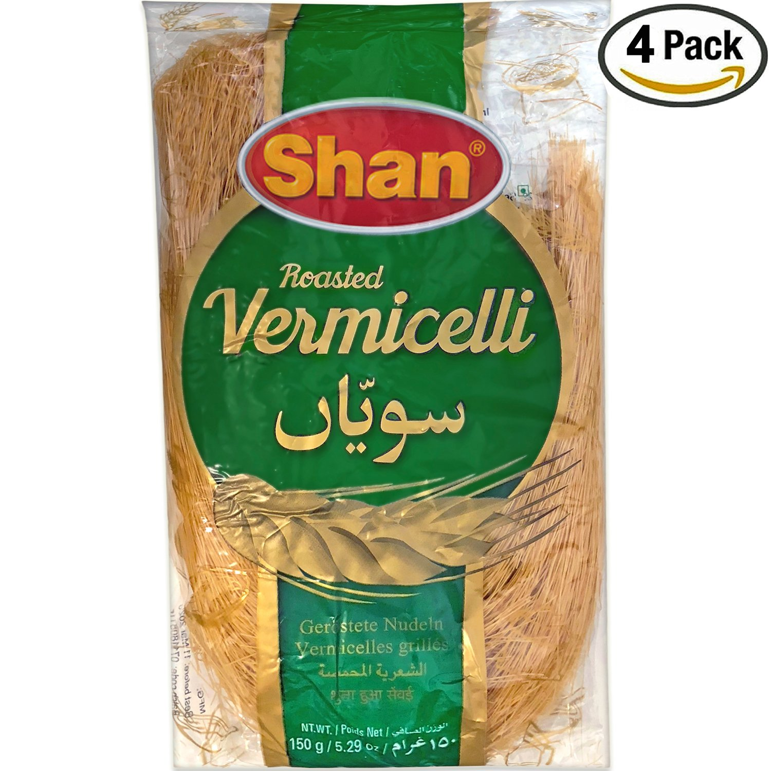 Shan - Roasted Vermicelli, 21.16oz/4x150g, (4 PACK) by Shan