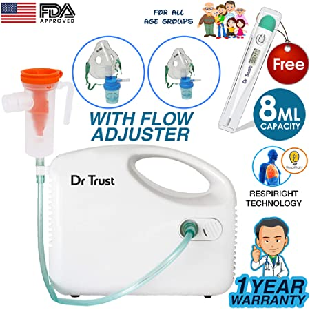 Dr Trust Bestest Compressor Nebulizer Machine Kit (White) �