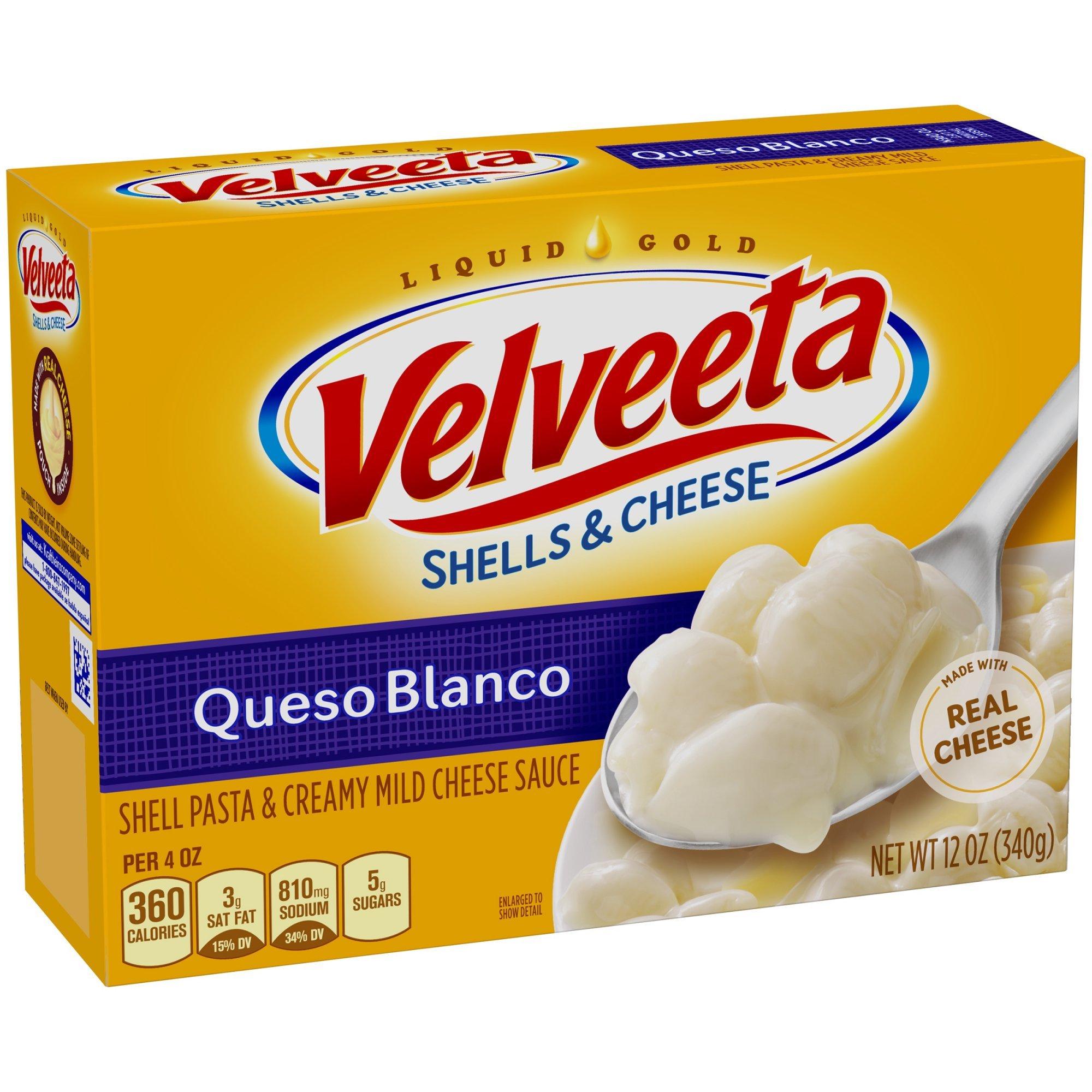 Velveeta Queso Blanco Shells & Cheese 12 oz (Pack of 4)