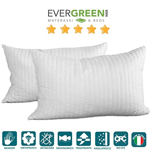 Evergreen Materassi.Evergreenweb Occasion Pair Bow Memory Pillows Great For