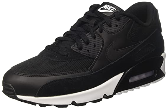 save off a8209 647c9 Nike Herren Air Max 90 Essential Low-Top, Schwarz Black-White, 40.5