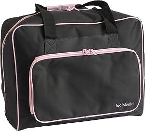 foolsGold Bolsa Acolchada para Transportar la Máquina de Coser - Negro/Rosa