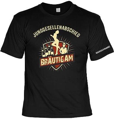 T-Shirt : Junggesellenabschied Bräutigam ::: mit Wunschnamen: Amazon.de:  Bekleidung