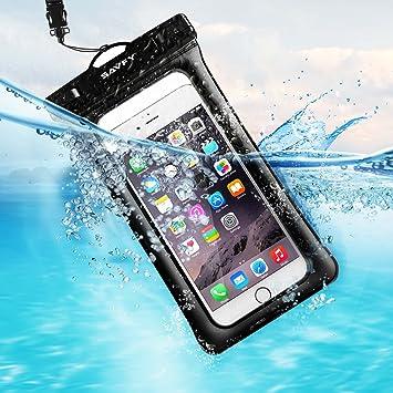 Flotante Funda Bolsa Móvil Impermeable, SAVFY Universal 7 Pulgadas Certificado IPX8 (10m de Profundidad) para iPhone 6S / 6S Plus / SE , Samsung ...