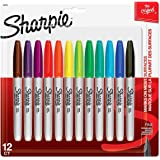Sharpie Permanent Markers, Fine Point, Assorted Colors, 12 Count 3-Pack