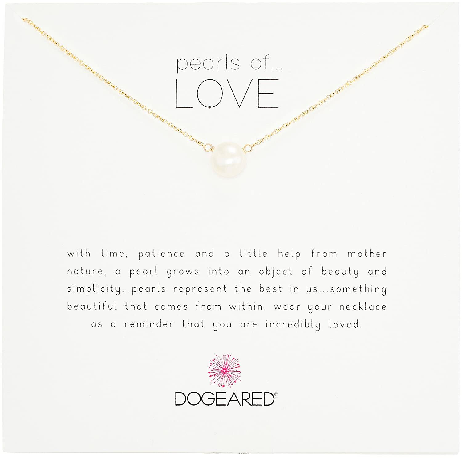 Amazon Dogeared Pearls Of Love Sterling Silver And Pearl