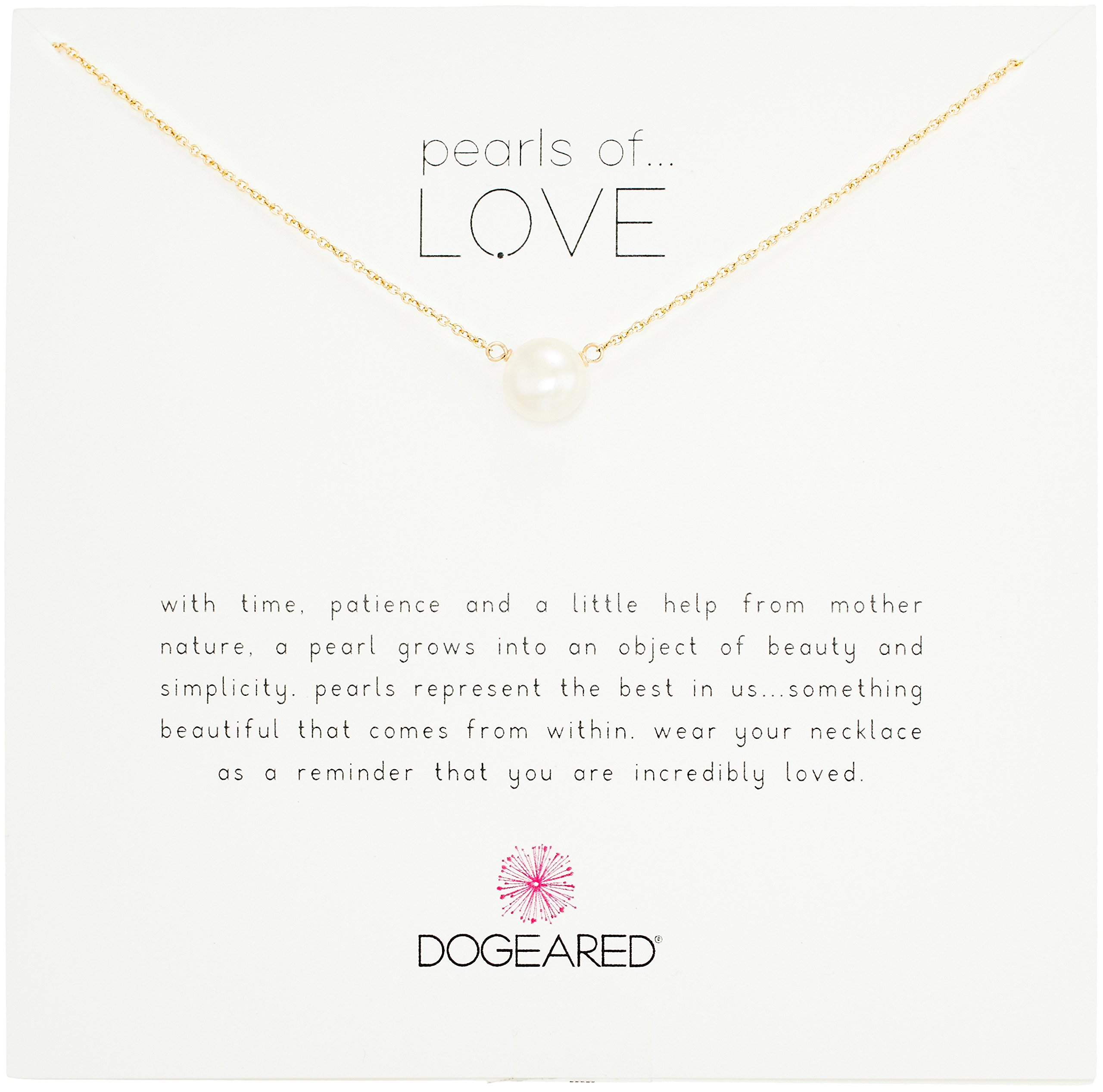 Dogeared Pearls of Love Gold 8mm Freshwater Pearl Necklace, 18''