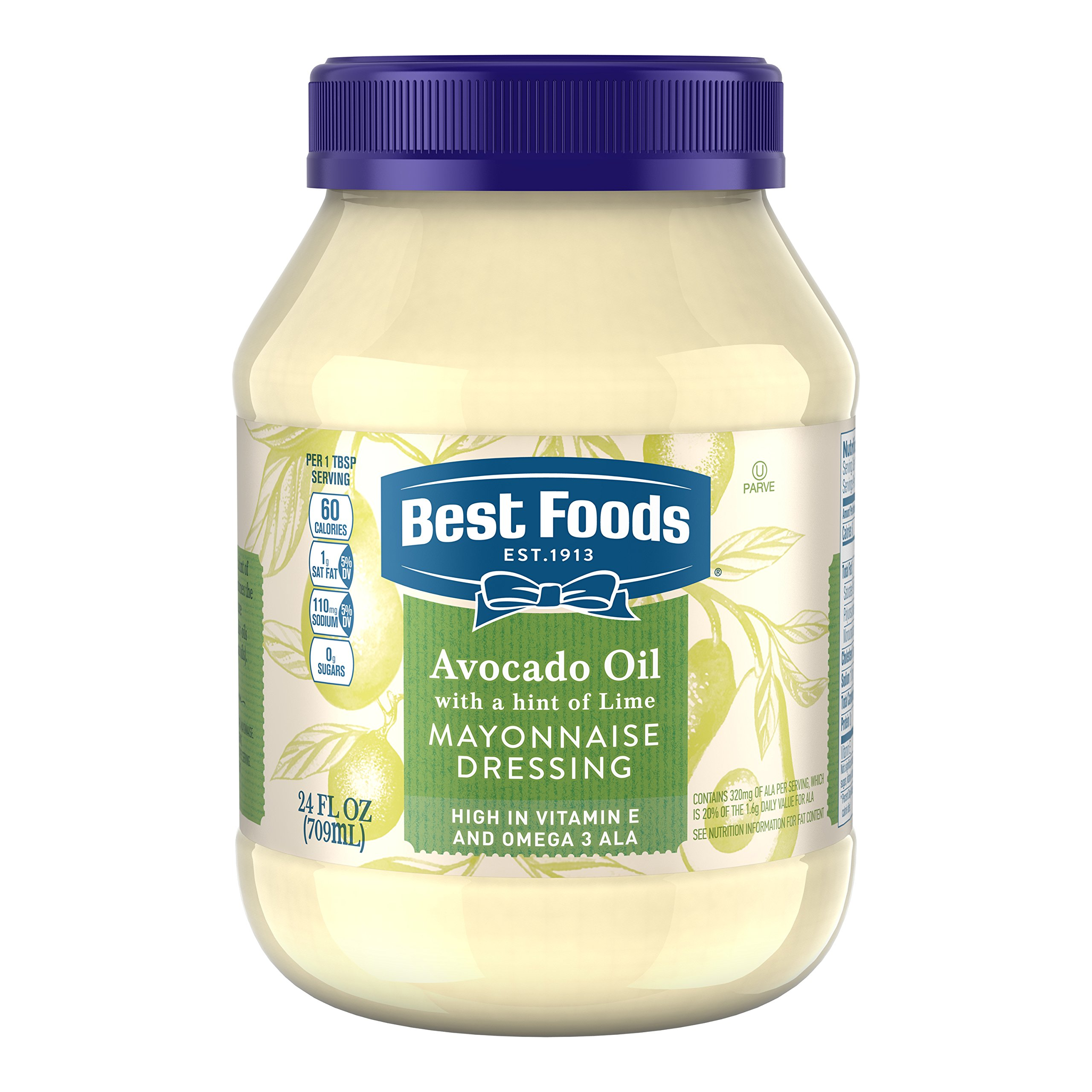 Best Foods Mayonnaise Dressing, Sunflower Oil with a hint of Lemon 24oz