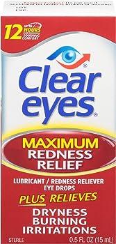 Clear Eyes Maximum Redness Relief Eye Drops, 0.5 Fl Oz