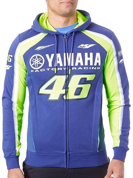 Valentino Rossi Sudadera con Cremallera Yamaha VR46 Racing Azul-Amarillo: Amazon.es: Ropa y accesorios