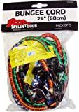 Taylor Tools TAY-62024 60cm/ 24-inch Heavy Duty Bungee Cord (Pack of 5)