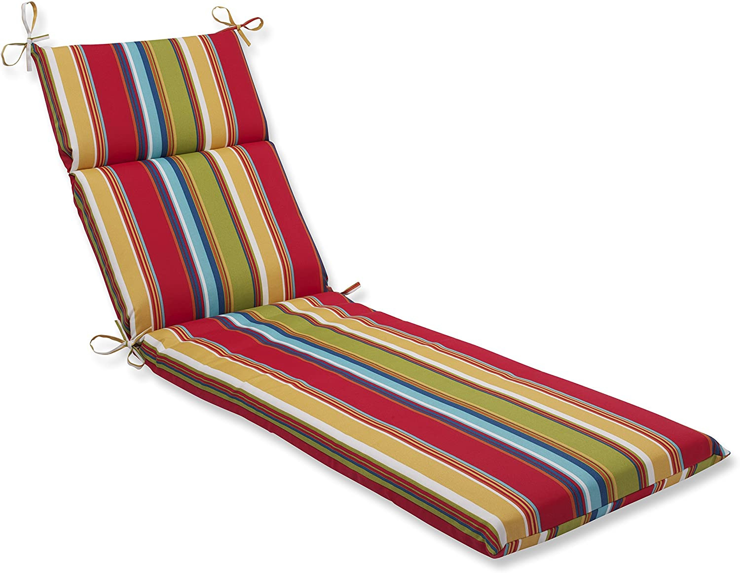 Pillow Perfect 563657 Outdoor/Indoor Westport Garden Chaise Lounge Cushion, 72.5 in. L X 21 in. W X 3 in. D, Multicolored