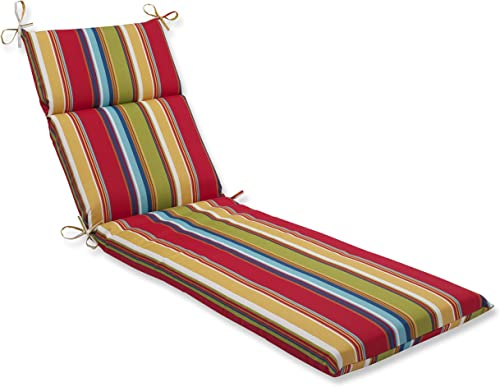 Pillow Perfect 563657 Outdoor Indoor Westport Garden Chaise Lounge Cushion, 72.5 in. L X 21 in. W X 3 in. D, Multicolored