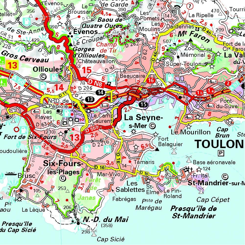 Cartina Stradale Costa Azzurra.Forma Parametri Possesso Provenza Francia Mappa Amazon Settimanaciclisticalombarda It